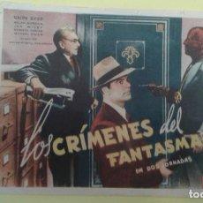 Cine: LOS CRIMENES DEL FANTASMA EN DOS JORNADAS RALPH BYRD C.P. VAES CINEMA ALGUN DEFECTO. Lote 233179955