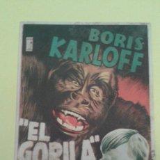 Cine: EL GORILA BORIS KARLOFF ORIGINAL C.P. CINE ATENEO SAMBOYANO ALGUN DEFECTO. Lote 233196650