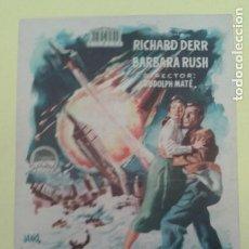 Cine: CUANDO LOS MUNDOS CHOCAN RICHARD DERR ORIGINAL C.P. GRAN CINEMA LICEO. Lote 233196900