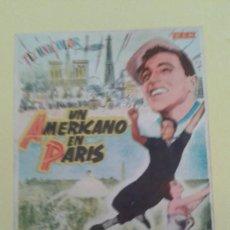 Cine: UN AMERICANO EN PARIS GENE KELLY ORIGINAL C.P. GRAN CINEMA LICEO ALGO SOBADO. Lote 233222795