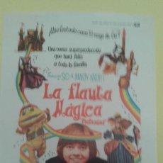 Cine: LA FLAUTA MAGICA JACK WILD ORIGINAL S.P. BUEN ESTADO. Lote 233239875