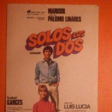 Cine: FOLLETO DE MANO CINE - PELÍCULA - FILM - LARGOMETRAJE - SOLOS LOS DOS. Lote 277705548