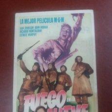 Cine: FUEGO EN LA NIEVE CON PUBLICIDAD CINEMA COCA VALLADOLID. Lote 233410055