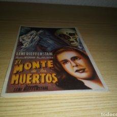 Cine: PROGRAMA DE CINE SIMPLE RARO. EL MONTE DE LOS MUERTOS. EXCLUSIVAS ARAJOL. Lote 233420545
