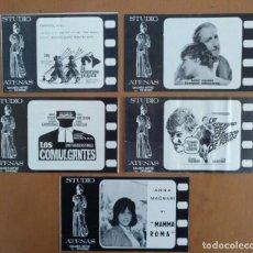 Cine: LOTE DE CINCO PROGRAMAS DE MANO DISTINTOS CINE ATENAS BARCELONA AÑOS 60. Lote 233424430