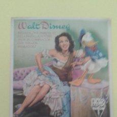 Flyers Publicitaires de films Anciens: LOS TRES CABALLEROS WALT DISNEY ORIGINAL C.P NUEVO TEATRO IRUN.. Lote 233473940