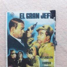Cine: EL GRAN JEFE. VÍCTOR MCLAGEN, JACKIE COOPER, ANA MUNSEN.. Lote 233500995