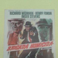 Cine: BRIGADA HOMICIDA RICHARD WIDMARK ORIGINAL S.P.. Lote 233502400