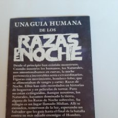 Cine: FOLLETO RAZAS DE NOCHE CINE DE TERROR. Lote 233671620