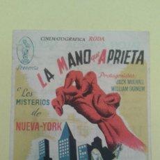 Cine: LA MANO QUE APRIETA 1ª JORNADA EL INVENTO FATAL C.P. SALON AVENIDA MOLLET ALGUN DEFECTO. Lote 233706660