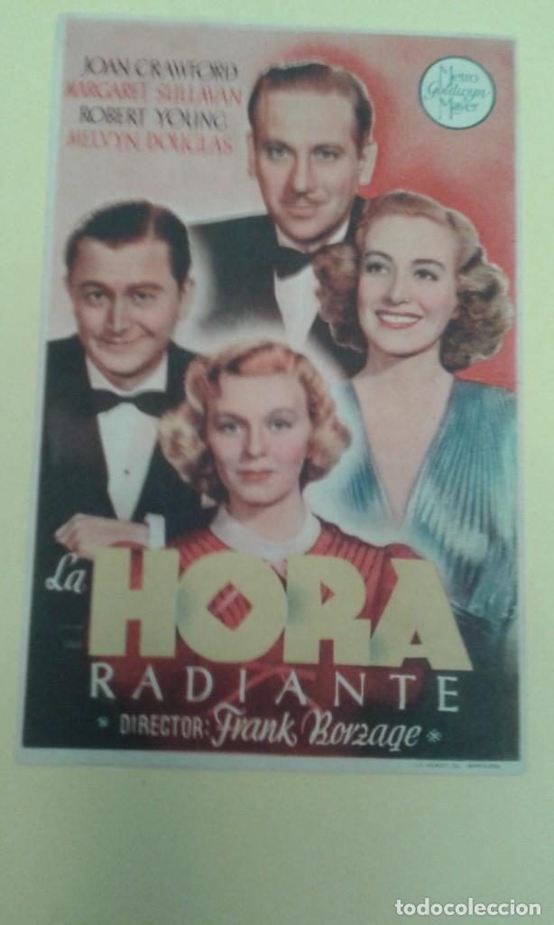 HORA RADIANTE JOAN CRAWFORD ORIGINAL C.P. (Cine - Folletos de Mano - Comedia)
