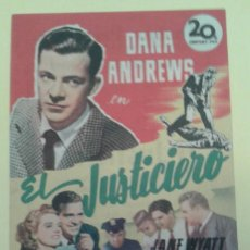 Cine: EL JUSTICIERO DANA ANDREWS ORIGINAL C.P. TEATRO PRINCIPE IRUN. Lote 233861945