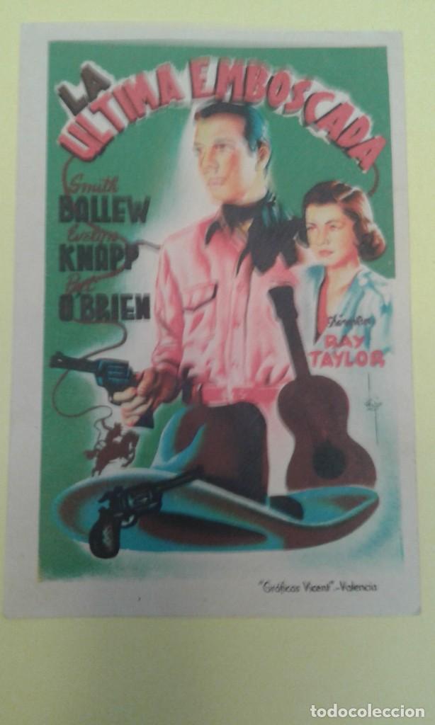 LA ULTIMA EMBOSCADA SMITH BALLEW ORIGINAL S.P. (Cine - Folletos de Mano - Westerns)
