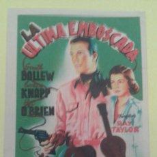 Cine: LA ULTIMA EMBOSCADA SMITH BALLEW ORIGINAL S.P.. Lote 233896565