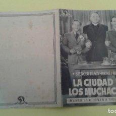 Cine: LA CIUDAD DE LOS MUCHACHOS SPENCER TRACY ORIGINAL DOBLE S.P. ALGUN DEFECTO. Lote 233901060