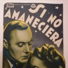 Cine: CHESTE. VALENCIA. CINEMA GOYA. SI NO AMANECIERA. PROGRAMA DOBLE, CON FELICITACIÓN AÑO NUEVO. CURIOSA. Lote 233944265