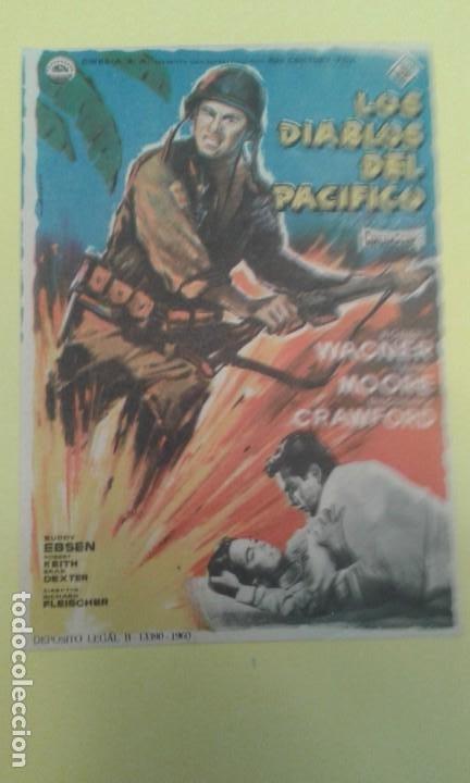 LOS DIABLOS DEL PACIFICO ROBERT WAGNER ORIGINAL S.P. BUEN ESTADO (Cine - Folletos de Mano - Bélicas)