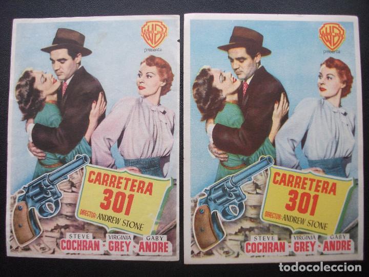 CARRETERA 301, STEVE COCHRAN, VARIANTE (Cine - Folletos de Mano - Drama)