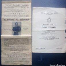 Folhetos de mão de filmes antigos de cinema: MILI PORTA - FOLLETO DE MANO HUESPED DEL SEVILLANO - LA CORUÑA 1936 Y DIPTICO HOMENAJE PÓSTUMO 1974.. Lote 234108905