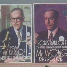Cine: YT28D MR. WONG BORIS KARLOFF SET 9 PROGRAMAS ORIGINALES ESPAÑOLES. Lote 234420875