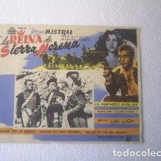 Cine: FOLLETO DE MANO DE LA PELÍCULA LA REINA DE SIERRA MORENA LA DUQUESA DE BENAMEJI JORGE MISTRAL 1949. Lote 234527895