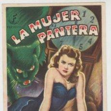 Cine: LA MUJER PANTERA (CON PUBLICIDAD). Lote 234578175
