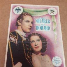 Folhetos de mão de filmes antigos de cinema: ANTIGUO PROGRAMA CINE ROMEO Y JULIETA MURCIA 1950. Lote 234620555