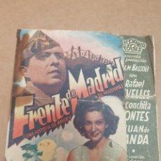 Cine: ANTIGUO PROGRAMA CINE MILITAR BELICO FRENTE DE MADRID HISPANIA TOBIS MURCIA 1940. Lote 234621715