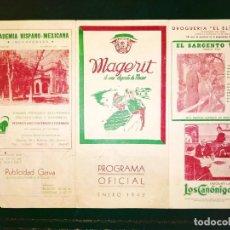 Cine: 1942 - RARO PROGRAMA DE MANO - CINE MAGERIT - MÉXICO D.F. - EXILIO ESPAÑOL. Lote 234743080