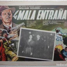 Cine: CARTEL LOBBY CARD MEXICANO UNION STATION LA MALA ENTRAÑA WILLIAM HOLDEN DIRECCIÓN RUFOLPH MATÉ 1950. Lote 234772575