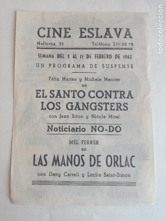 Cine: En venta directa PROGRAMA LAS MANOS DE ORLAC (Mel Ferrer - Christopher Lee - Dany Carrel) Publicidad - Foto 2 - 234784475