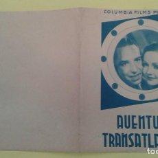 Cine: AVENTURA TRANSATLANTICA NANCY CARROLL ORIGINAL DOBLE S.P. BUEN ESTADO. Lote 234859325