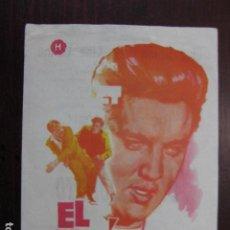 Cine: EL INDOMITO - FOLLETO MANO ORIGINAL ELVIS PRESLEY RAREZA FALLO DE IMPRESION COLOR Y TITULOS IMPRESO. Lote 234885450