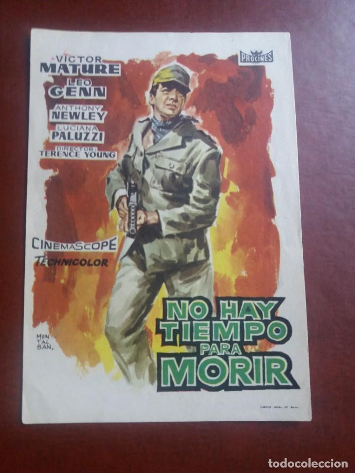 NO HAY TIEMPO PARA MORIR (Cine - Folletos de Mano - Bélicas)
