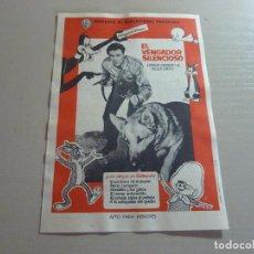 Flyers Publicitaires de films Anciens: PROGRAMA DE CINE IMPRESO EN LA PARTE TRASERA. Lote 235050855