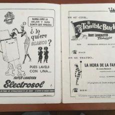 Cine: EL TEMIBLE BURLON FOLLETO DE MANO ORIGINAL ESTRENO CINE WINDSOR BARCELONA. Lote 235084875
