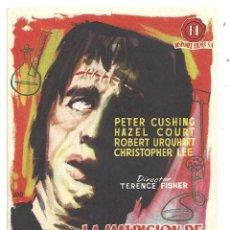 Cine: PTEB 067 LA MALDICION DE FRANKENSTEIN PROGRAMA SENCILLO HAMMER CHRISTOPHER LEE PETER CUSHING. Lote 235201885