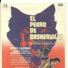 Cine: PTEB 067 EL PERRO DE BASKERVILLE PROGRAMA SENCILLO CB HAMMER LEE CUSHING SHERLOCK HOLMES. Lote 235202155