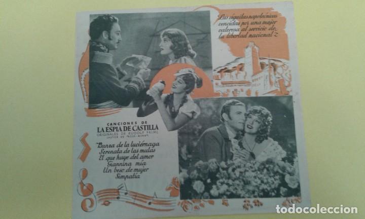 Cine: LA ESPIA DE CASTILLA JEANETTE MACDONALD ORIGINAL DOBLE C.P. CINE PARQUE - Foto 2 - 235294085