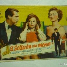 Cine: PROGRAMA EL SOLTERON Y LA MENOR CARY GRANT PUBLICIDAD. Lote 235332160