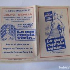 Flyers Publicitaires de films Anciens: T41 ------ PROGRAMA DE MANO ORIGINAL EL DE LA FOTO. Lote 235337285