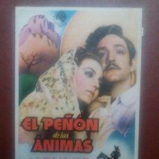 Cine: EL PEÑON DE LAS ANIMAS CON PUBLICIDAD TEATRO CIRCO ZARAGOZA. Lote 235337570