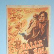 Cine: FOLLETO - PELÍCULA, FILM - LARGOMETRAJE - EL VALLE DEL SOL - CINE SAN VICENTE -. Lote 235338875