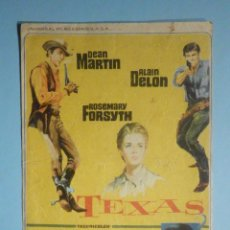 Cine: FOLLETO - PELÍCULA, FILM - LARGOMETRAJE - TEXAS - ARENYS DE MAR 1967. Lote 235339850