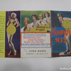Flyers Publicitaires de films Anciens: T178 ------ PROGRAMA DE MANO ORIGINAL EL DE LA FOTO. Lote 235386995