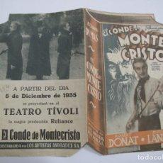 Flyers Publicitaires de films Anciens: T186 ------ PROGRAMA DE MANO ORIGINAL EL DE LA FOTO. Lote 235387205