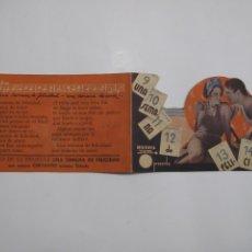 Flyers Publicitaires de films Anciens: T192 ------ PROGRAMA DE MANO ORIGINAL EL DE LA FOTO. Lote 235387390