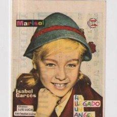 Cine: FOLLETO DE MANO HA. LLEGADO UN ANGEL POR MARISOL PUBLICIDAD TEATRO FORTUNY REUS. Lote 235494865
