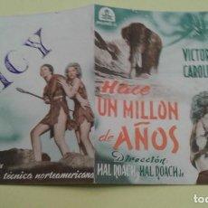 Cine: HACE UN MILLON DE AÑOS VICTOR MATURE ORIGINAL DOBLE CON SELLO. Lote 235565810