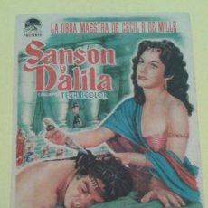 Cine: SANSON Y DALILA HEDY LAMARR ORIGINAL C.P.. Lote 235566475